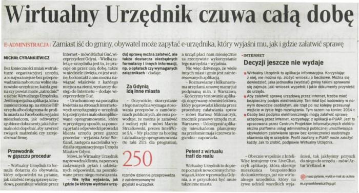 Rzeczpospolita o WirtualnyUrzednik.pl